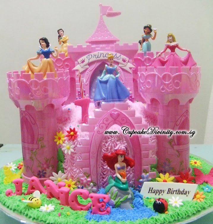Disney Princess Castle Birthday Cake Kit Image Inspiration of