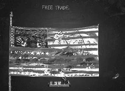 ARTIST: Joane Cardinal-Schubert, Free Trade Flag