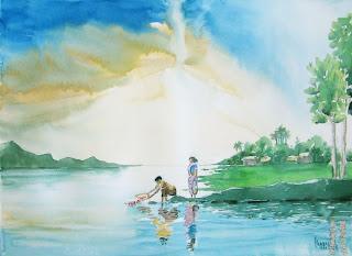 last rites - watercolor