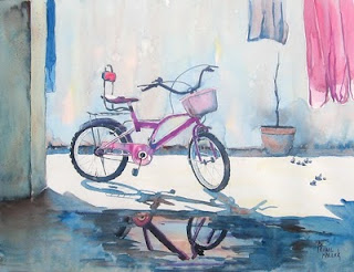 watercolor - parked free
