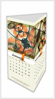 3D look of the vertical calendar