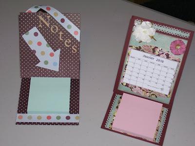 Scrap et compagnie tutoriel calendrier de bureau et porte post it - Calendrier sur le bureau ...