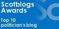 No 1 in the Politician's Blog Awards