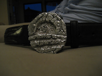 Obama belt buckle lost foam