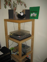 IKEA lack record player stand.