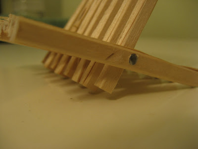 folding recycled chopstick business card holder stand.