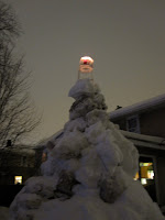 giant snow lighthouse