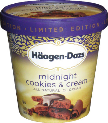 ... : Ice Cream Reviews: Haagen-Dazs Midnight Cookies & Cream Ice Cream