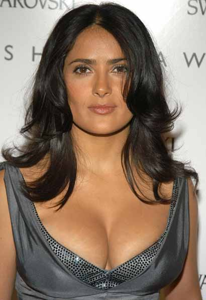 salma hayek breast