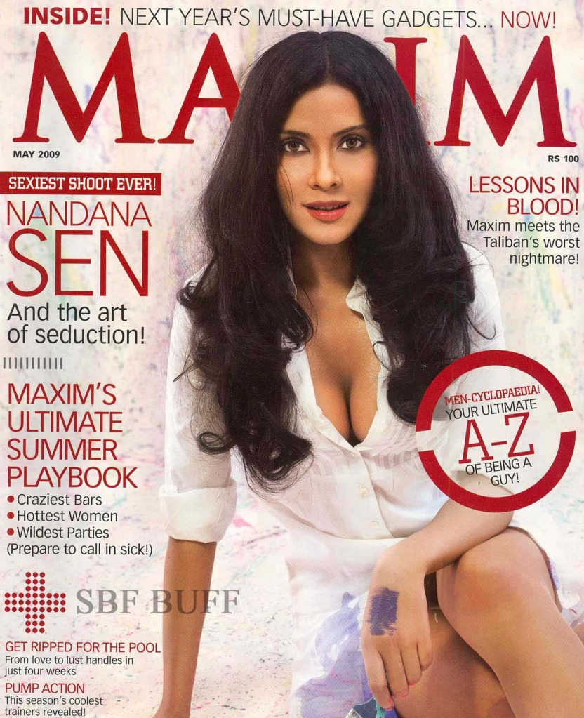 puts all rumors to an end check out nandana sen on the cover of maxim ...