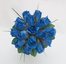 Blue Wedding Posy