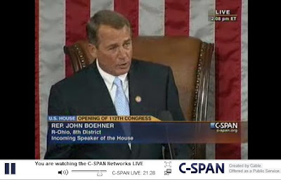 Pelosi And Boehner. Boehner received 241 out of