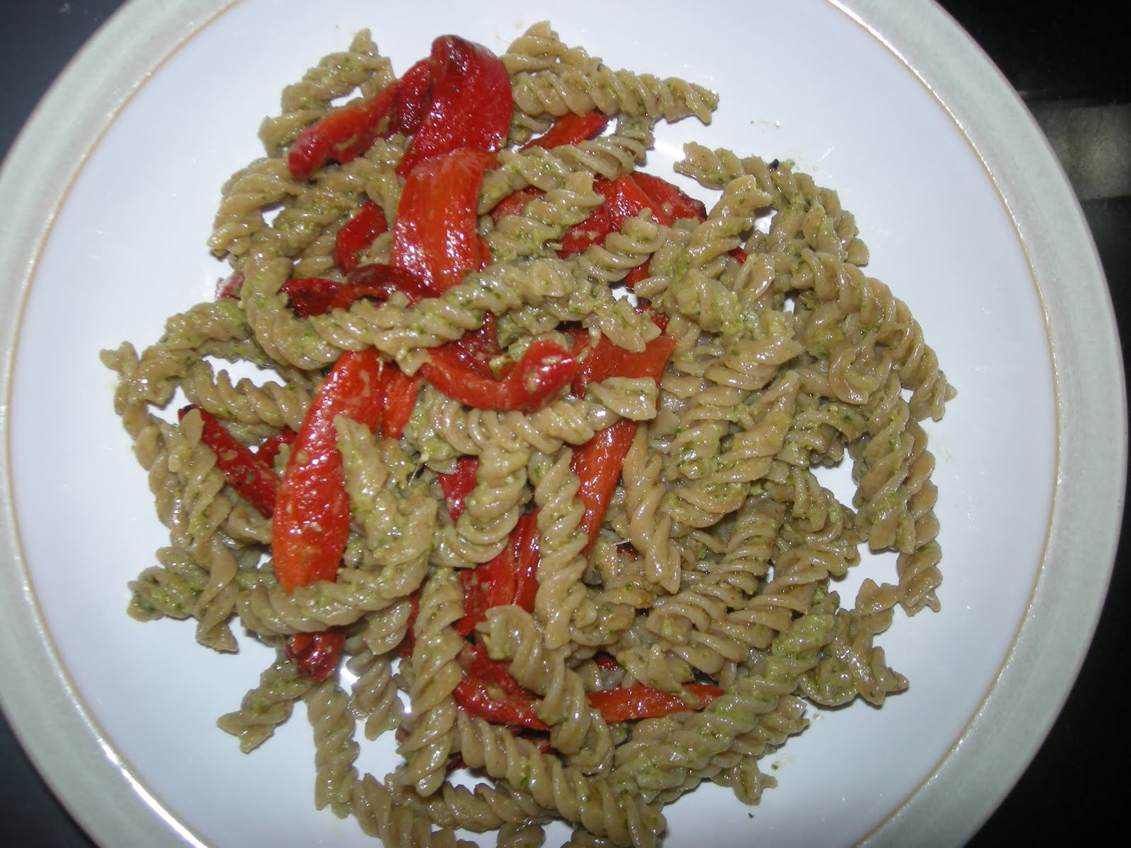 Angel Hair Pasta With Chard And Bell Peppers Recipe — Dishmaps