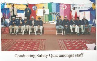Conducting Safety Quiz During Week At ICI Pakistan Ltd