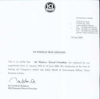 Work experience letter contractor 28 images jop tips certificate format work experience letter contractor manzoor ahmad chaudhry hse manager experience letter of ici pakistan ltd yadclub Choice Image