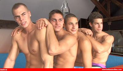 Bel Ami Online presents Kris Evans, Vadim Farrell, Dan Arlett, and Bartolome Siberio