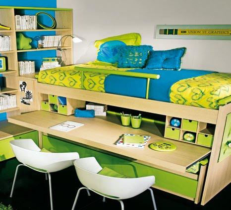 Muebles infantojuveniles poco espacio en los dormitorios for Muebles poco espacio