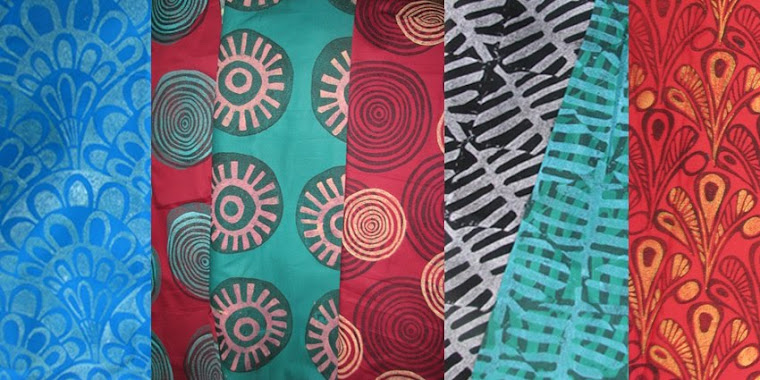 selection of blockprinted textiles