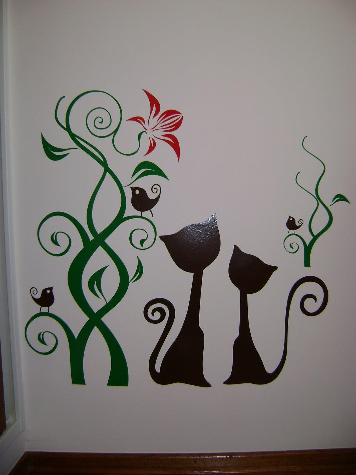 Vinilos decorativos infantiles florales y de adultos for En donde venden vinilos decorativos