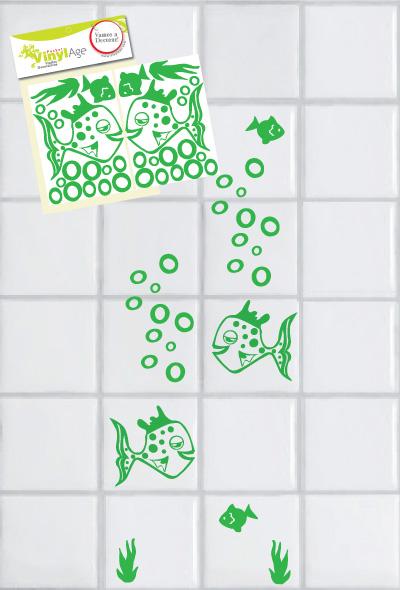 Azulejos Baño De Vinilo: Florales y de Adultos – VinylAge: Nuestro Baño- Vinilos para Azulejos