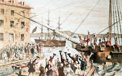 Boston Tea Party in 1773