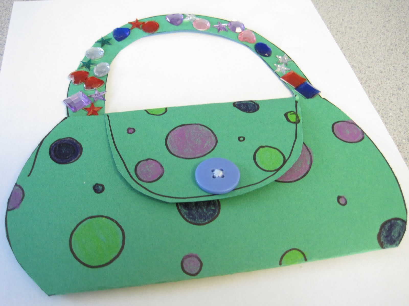 Preschool Crafts For Kids Mother 39 S Day Purse Card Craft