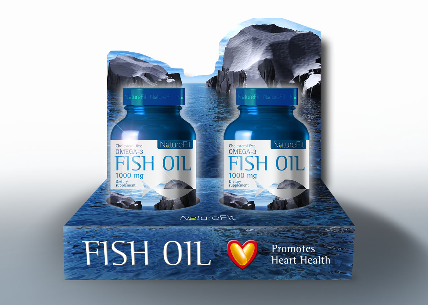 Naturefit visual identity packaging art re directions for Fish oil for add
