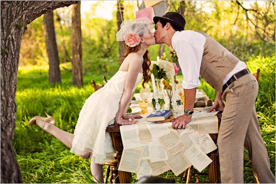 vintage literature wedding