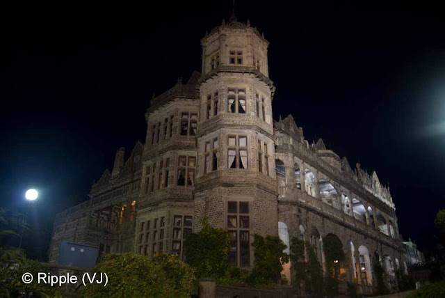 Posted by Ripple (VJ) : Shimla Night View : Side view of Viceregal Lodge, Shimla (Indian Institute of Advanced Studies)