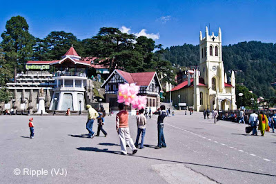 Posted by Ripple (VJ) on Photo Journey: Shimla is the capital city of Himachal Pradesh. In 1864, Shimla was declared the summer capital of the British Raj in India. A popular tourist destination, Shimla is often referred to as the