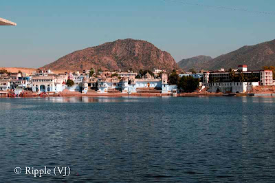 Posted by Ripple(VJ) : Glimpses of Pushkar-Ghats around Puhkar-Lake during Camel Fair-2008 (Pushkar Lake is actually surrounded by different Ghats/Temples... ):: View from Bramh-Ghat...