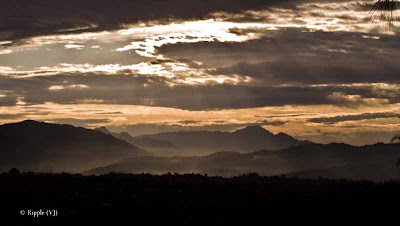 Posted by Ripple (VJ) : My Homoetown : Hamirpur, Himachal Pradesh : Early Morning view from Town-bharadi @ Hamirpur