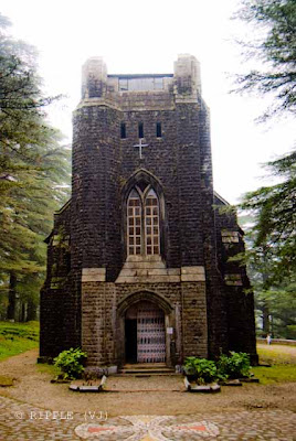 Posted by Ripple (VJ) : The Gothic stone building of the Church was constructed in 1852. The site also has a memorial of the British Viceroy Lord Elgin, and an old graveyard. The church building is also noted for its Belgian stained-glass windows donated by Lady Elgin.: Mcleoganj, Mcloedgaj, Dharmshala, Himachal Pradesh, Saint John Chruch, India, British times, ripple, Vijay Kumar Sharma, ripple4photography, Frozen Moments, photographs, Photography, ripple (VJ), VJ, Ripple (VJ) Photography, Capture Present for Future, Freeze Present for Future, ripple (VJ) Photographs , VJ Photographs, Ripple (VJ) Photography : Complete view of front portion of St. John's Church @ Mcleodganj, Himachal Pradesh