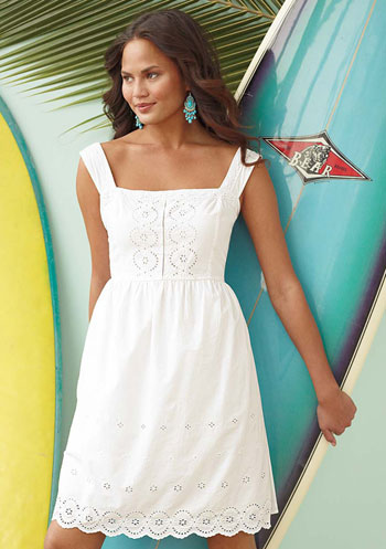 White Eyelet Dress on Dress White Sack Dress Dresses Footwear At Reservedred Bowknot Ladies