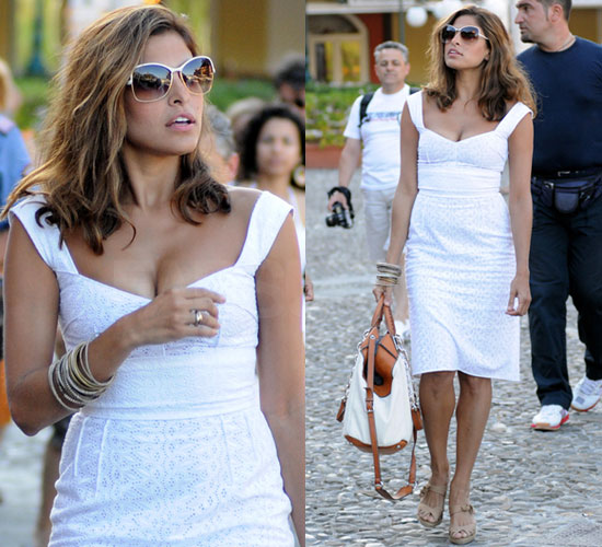 Eva Mendes in Dolce and Gabanna