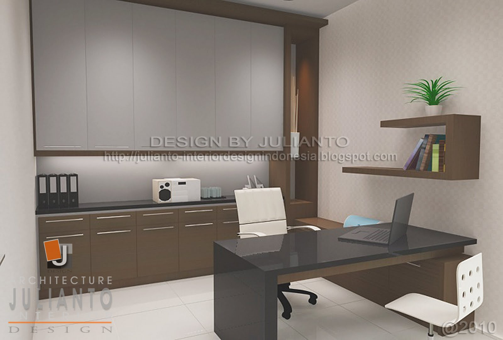 Interesting Personal Office Interior Design - Home Design #427