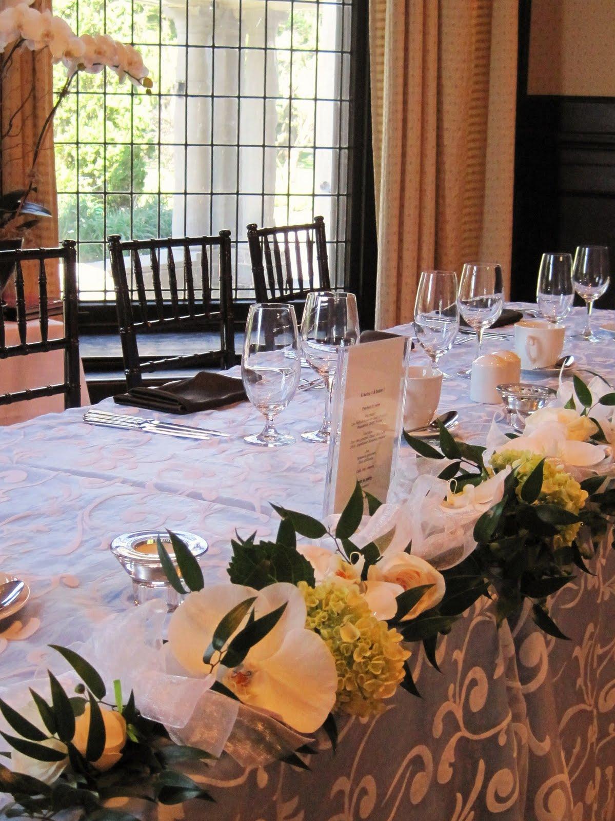Boutique florale gigi lachine florist wedding stewart for Table 09 pointe claire
