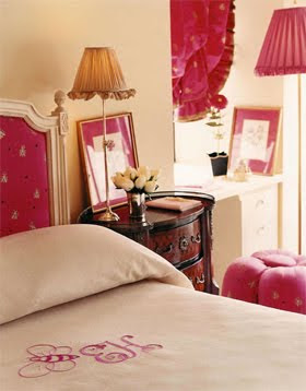 Amanda Nisbet Pink Accented Bedroom
