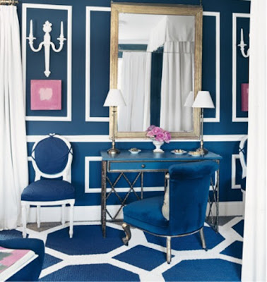 Mary McDonald Blue room Vanity