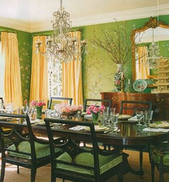 Mary McDonald Dining Room Chinoiserie Wallpaper