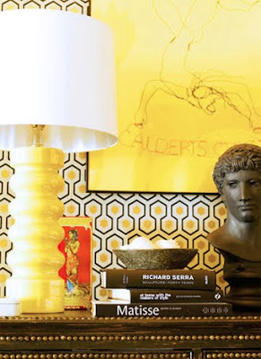 Gary Spain Designer Yellow Lamp