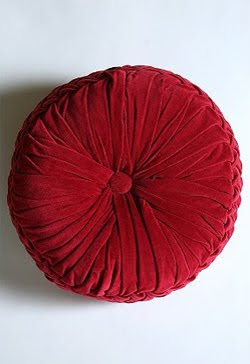 Velvet Pouf Pillow