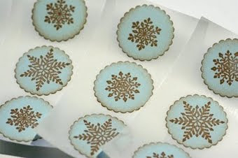 Vintage Style Winter Snowflake Stickers