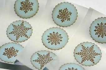 Vintage Style Winter Snowflake Stickers