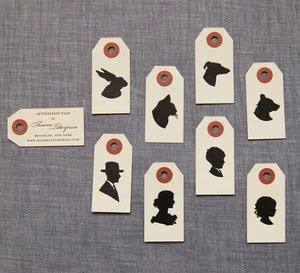 Mini Silhouette Gift Tags