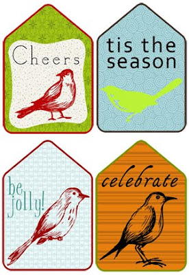 Lolly Chops Bird Holiday Tags