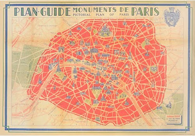 Paris-Map-Red-Cavallini-Wrapping-Paper