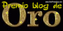 "Premio ""Blog Oro"""