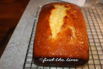 Find The Time Lemon Yogurt Cake With Blueberry Sauce