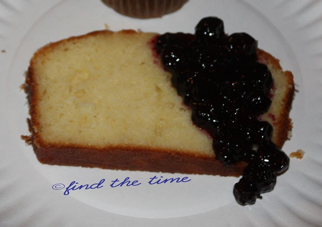 Find the Time: Lemon Yogurt Cake with Blueberry sauce